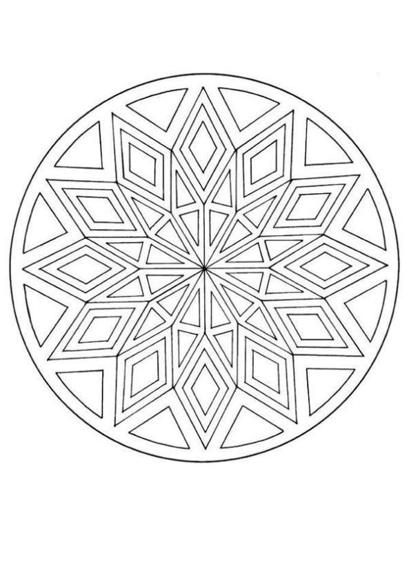 advanced geometric mandala coloring