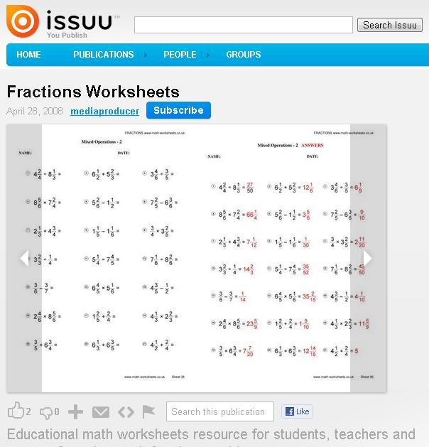 Fractions Worksheets | Mr Williams Maths
