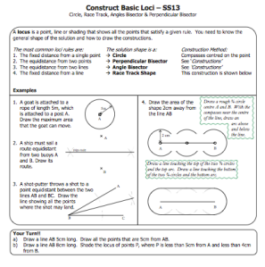 Resources for Constructions and Loci | Mr Williams Maths