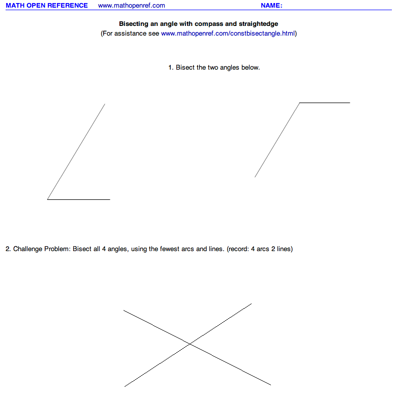 Geometry – Constructions (step-by-step) worksheets and visuals ...