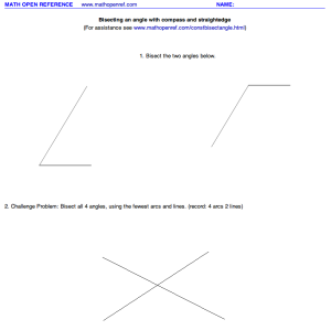 Geometry – Constructions (step-by-step) worksheets and visuals from ...