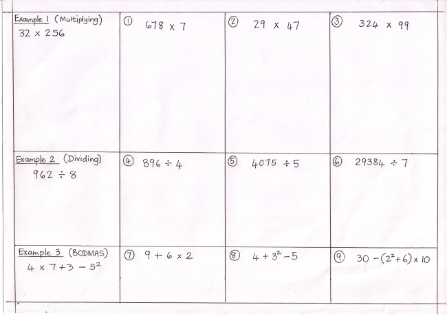 KS3 Maths – Ks3 Maths Worksheet