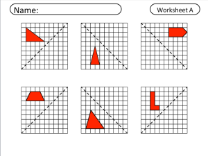Reflection Math Worksheet - Educational Math Activities
