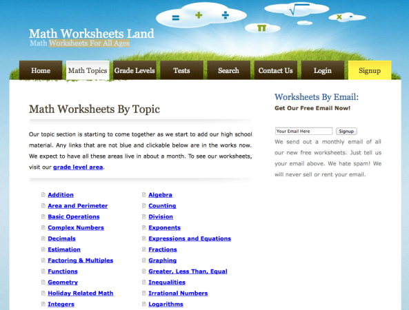 ... Maths | Mr Williams MathsFree Mathematics Worksheets Sorted By Topic