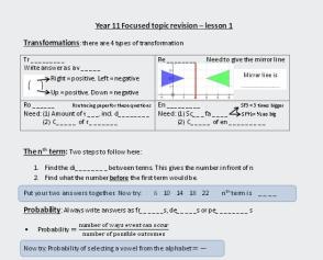Focused Revision 1