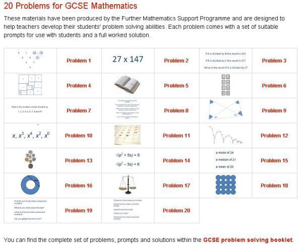 gcse problem solving