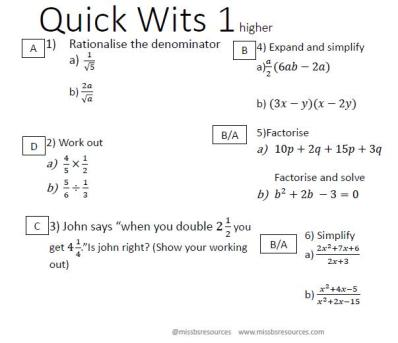 Miss B Quick Wits