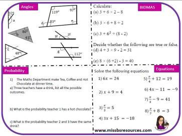 Miss B Revision Mats