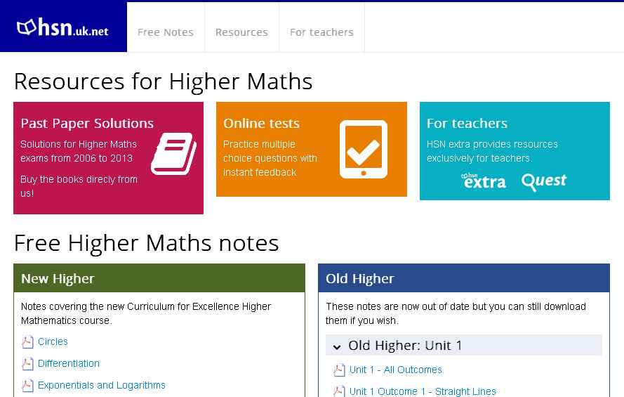 hsn higher maths homework